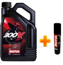 Motul 300V 4T Factory Line Road Racing 15W-50 4liter+Ajándék láncspray 100ml