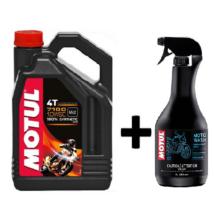 Motul 7100 10W-60 4T 4liter+Motul E2 Moto wash motorkerékpár tisztító 1liter