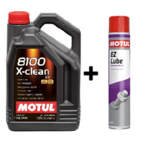 Motul 8100 X-Clean 5w-40 5liter + Motul E.Z.Lube kenő spray 750ml