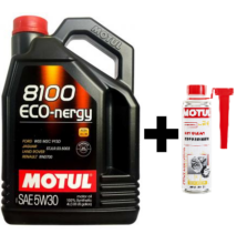 Motul 8100 Eco-Nergy 5W-30 4liter+Motul DPF Clean részecskeszűrő tisztító 300ml