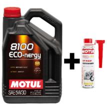Motul 8100 Eco-Nergy 5W-30 5liter+ Motul DPF Clean részecskeszűrő tisztító 300ml