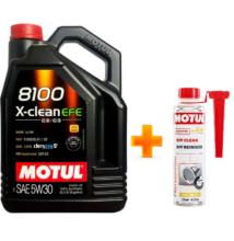Motul 8100 X-Clean EFE 5w-30 5liter + Motul DPF Clean részecskeszűrő tisztító 300ml