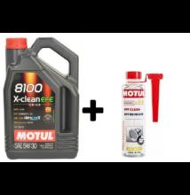 Motul 8100 X-Clean EFE 5w-30 4liter + Motul DPF Clean részecskeszűrő tisztító 300ml