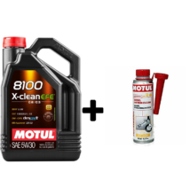 Motul 8100 X-Clean EFE 5w-30 5liter + Motul diesel system clean 300ml