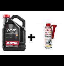 Motul Specific 505.01 502.00 505.00 5w-40 5liter + Motul diesel system clean 300ml