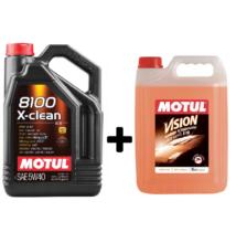 Motul 8100 X-Clean 5w-40 4liter+ Motul nyári bogároldós szélvédőmosó