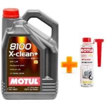 Motul 8100 X-Clean+ 5W-30 5liter + MOTUL DPF CLEAN RÉSZECSKESZŰRŐ TISZTÍTÓ 300ML