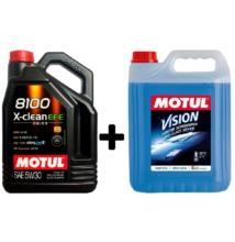 Motul 8100 X-Clean EFE 5w-30 5liter + Motul téli szélvédőmosó