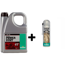 MOTOREX Power Synt 4T 10w-50 4liter + MOTOREX Chainlube Racing 500ml