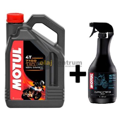 Motul 7100 10W-50 4T 4liter+Motul E2 Moto wash motorkerékpár tisztító 1liter