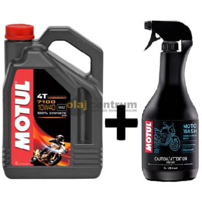 Motul 7100 10W-40 4T 4liter+Motul E2 Moto wash motorkerékpár tisztító 1liter