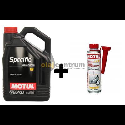 Motul Specific 504.00/507.00 5w-30 5liter + Motul diesel system clean 300ml