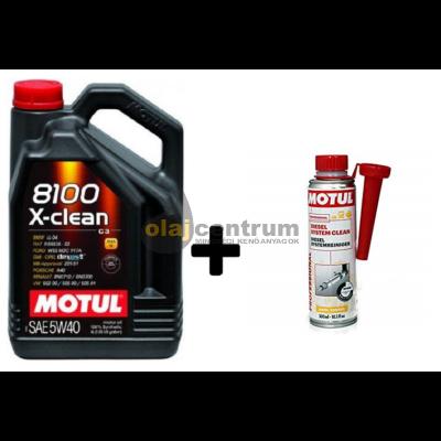Motul 8100 X-Clean 5w-40 4liter + Motul diesel system clean 300ml