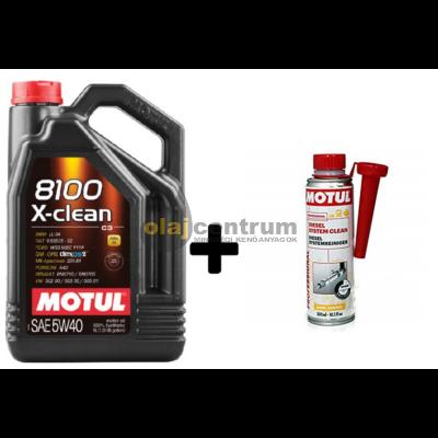 Motul 8100 X-Clean 5w-40 5liter + Motul diesel system clean 300ml