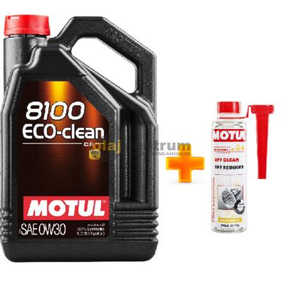 Motul 8100 Eco-Clean C2 0W-30 5liter+ MOTUL DPF CLEAN RÉSZECSKESZŰRŐ TISZTÍTÓ 300ML