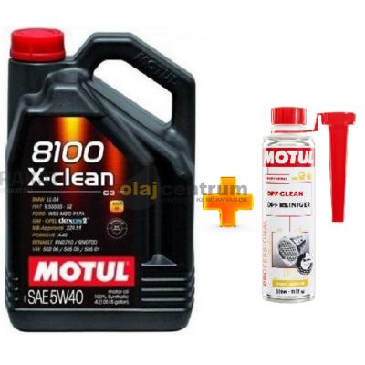 Motul 8100 X-Clean 5w-40 4liter+ MOTUL DPF CLEAN RÉSZECSKESZŰRŐ TISZTÍTÓ 300ML