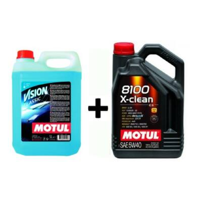 Motul 8100 X-Clean 5w-40 4liter+ Motul téli szélvédőmosó